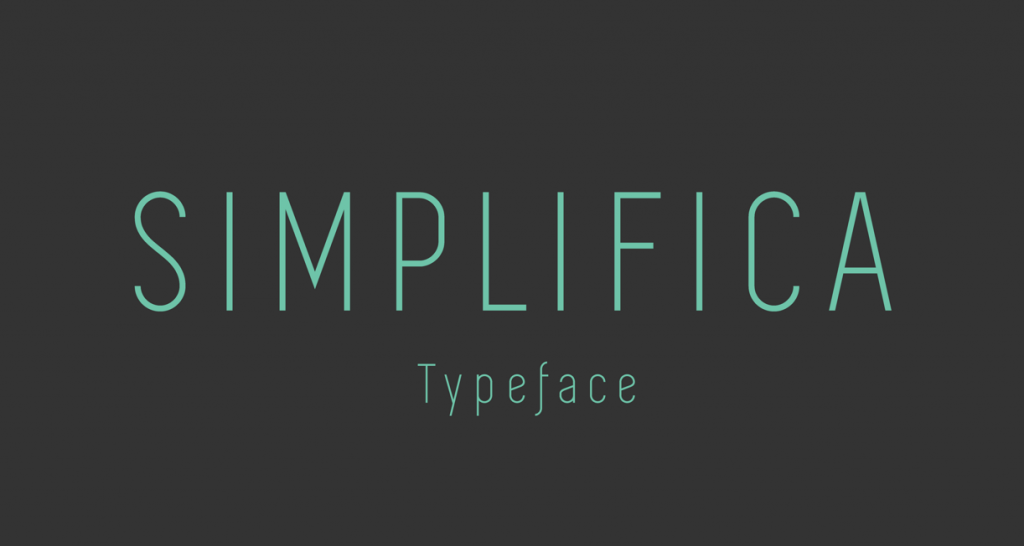 Simplifica free typeface by KAIWA